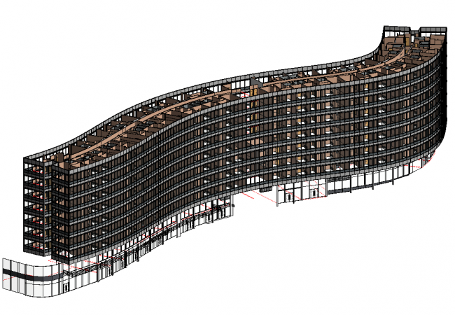 BIM model Gateway House, manchester, adept, consulting engineers