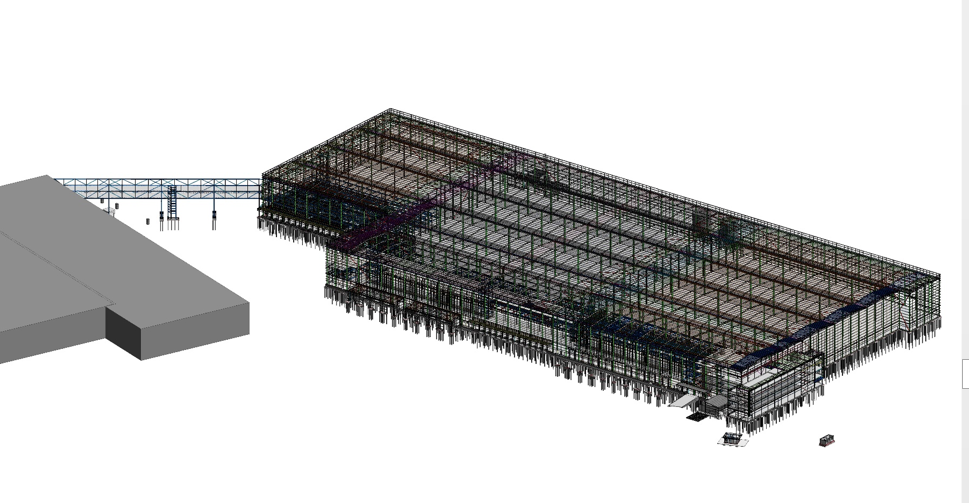 distribution centre, doncaster, adept consulting engineers, BIM, rebar, revit