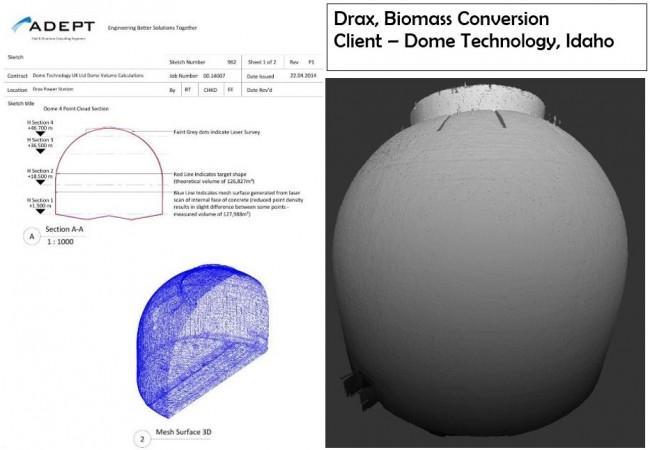 laser point cloud, technology, adept, drax, biomass