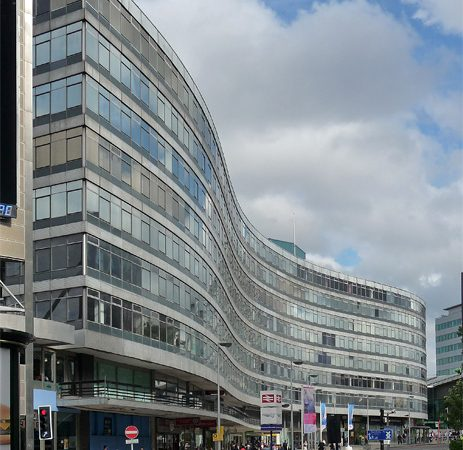 lazy-S building, gateway house, manchester