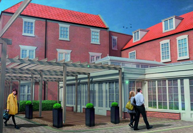Bereley Arms courtyard