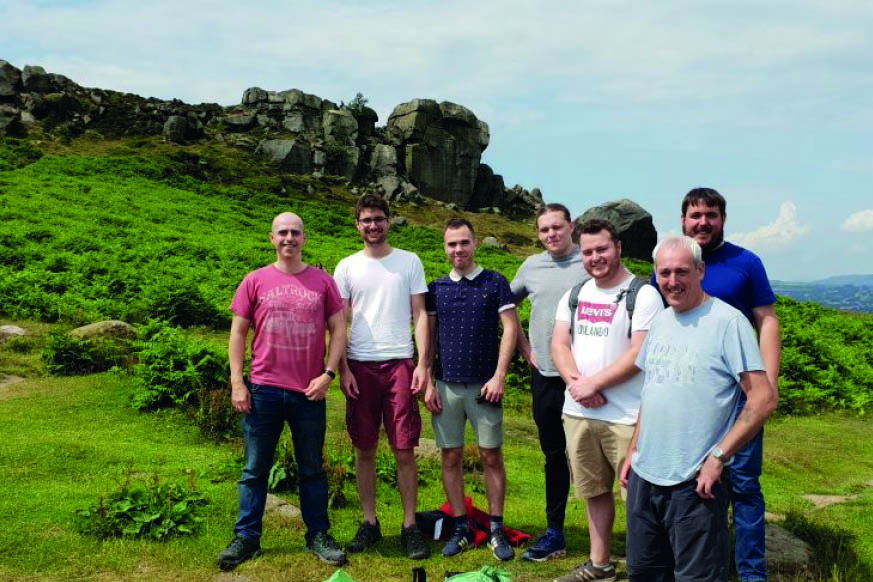 Adept staff at Cow and Calf rocks, volunteering with Friends of Ilkley Moor